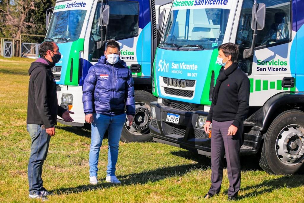 San Vicente: Nuevos camiones al servicio de los vecinos