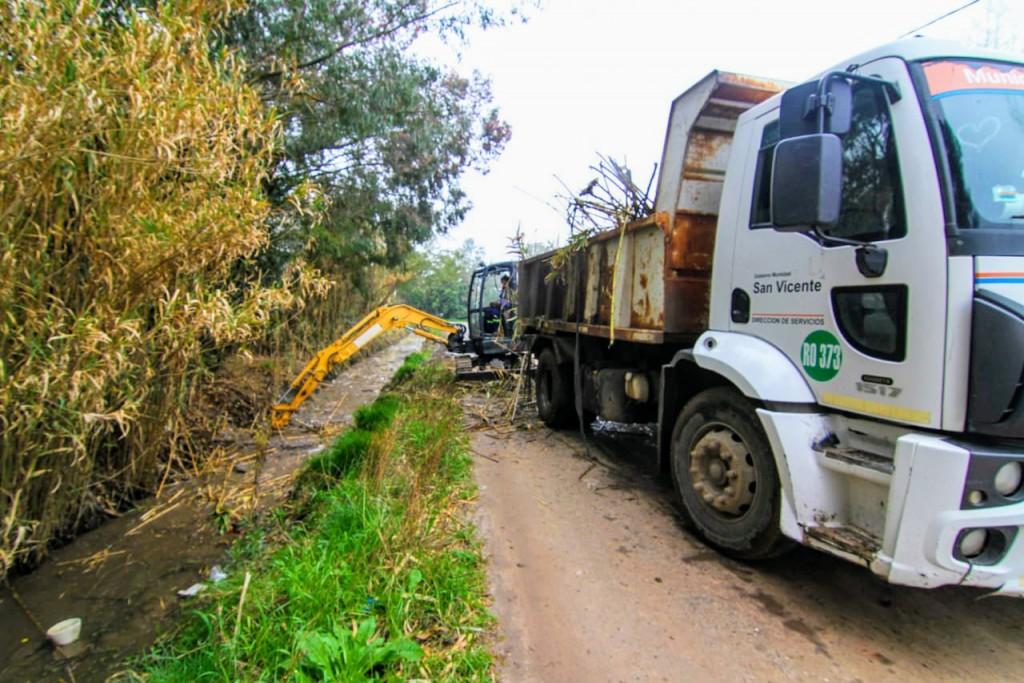 San Vicente: Se completa la limpieza del Canal Buenos Aires