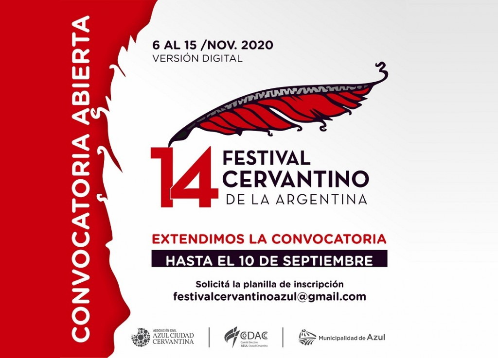 Azul: Extienden hasta el 10 de septiembre la convocatoria para el XIV° Festival Cervantino