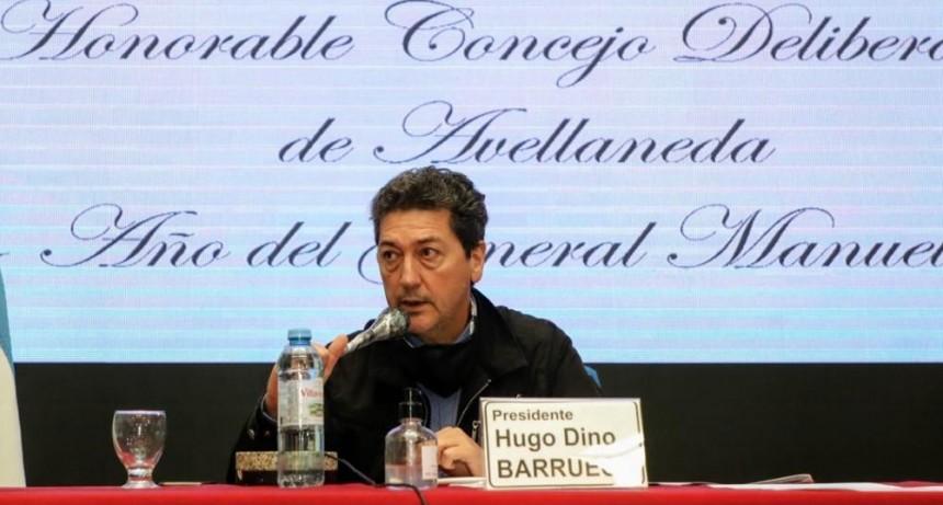 """Avellaneda: Hugo Barrueco calificó de """"alto grado de irresponsabilidad"""", la actitud crítica de concejales de la oposición"""
