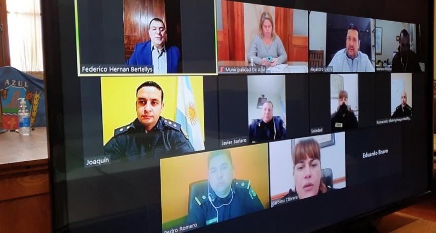 Azul: El intendente Hernán Bertellys encabezó reunión virtual para controlar reuniones sociales