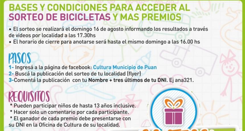 Puan: El Municipio sortea bicicletas y monopatines por el Día del Niño