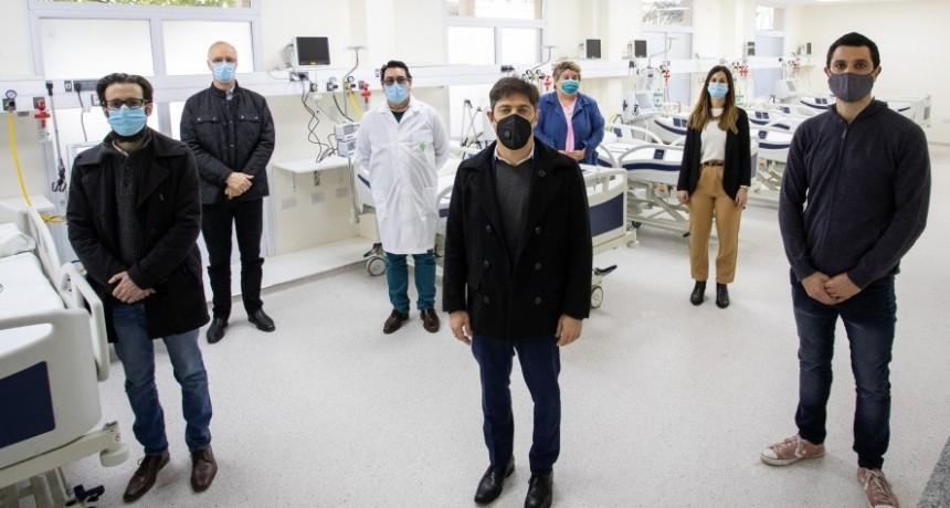 Gral. Rodríguez: Kicillof y García, inauguraron una nueva Unidad de Terapia Intensiva en el Hospital Vicente López