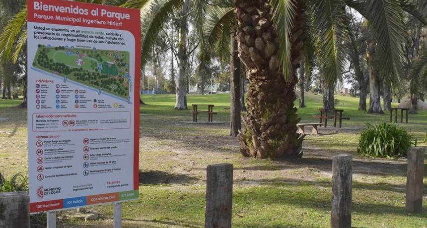 Lobos: Nuevos carteles en el parque Municipal