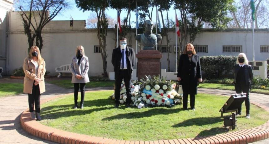 Cáffaro participó junto a la Asociación Cultural Sanmartiniana, del homenaje al General San Martín