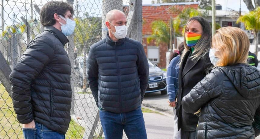 San Fernando: Juan Andreotti y Malena Galmarini compartieron un operativo de AYSA