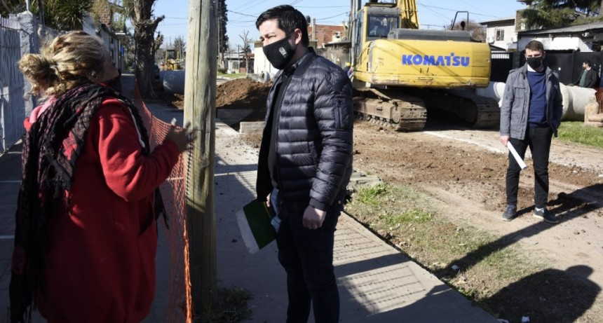 Los Polvorines: nuevo tramo de pavimentación de la calle José Verdi