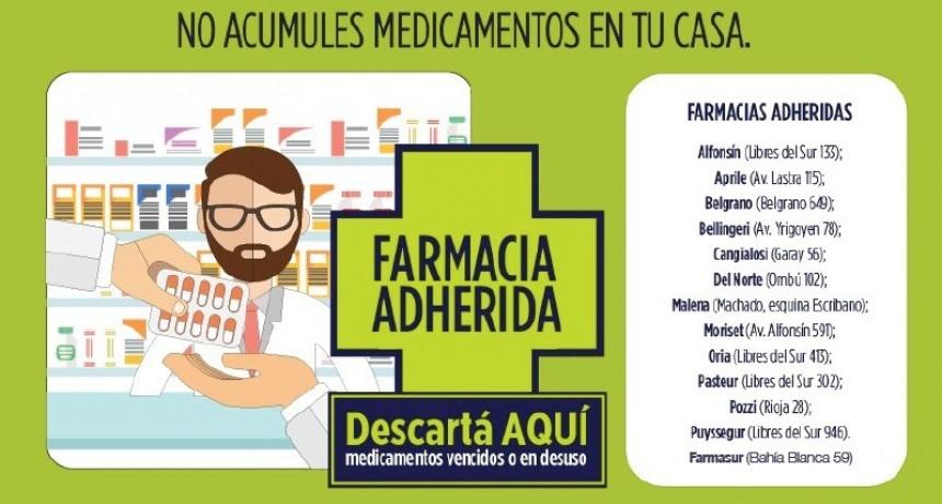 Chascomús: Los medicamentos vencidos o en desuso deben descartarse en farmacias