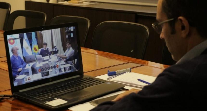 Pisano se reunió con Kicillof y otros intendentes para evaluar la situación epidemiológica de sus distritos