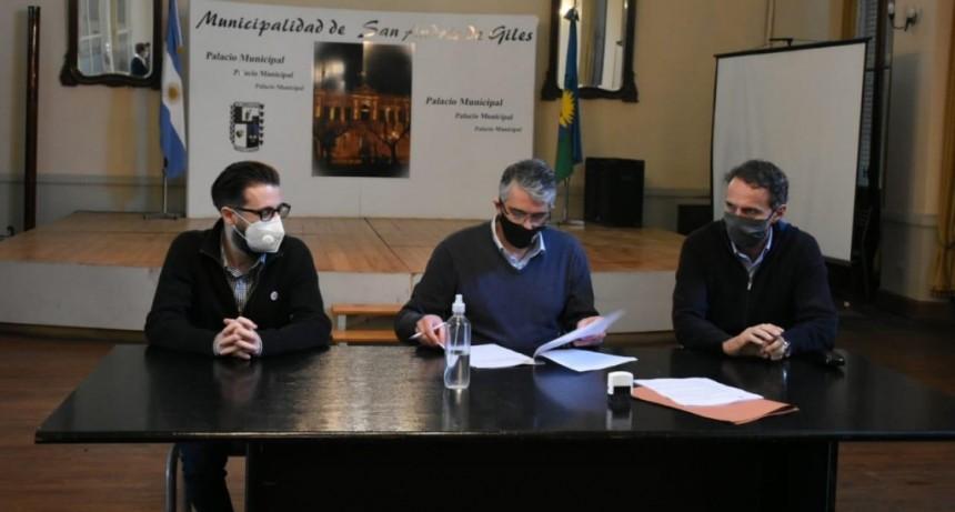 Simone y Katopodis firmaron convenios de obras para San Andrés de Giles y Villa Lía