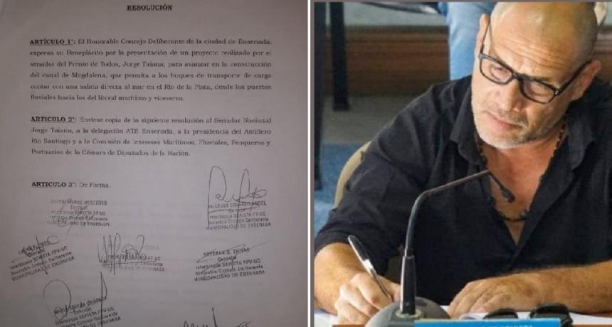 Ensenada: El HCD aprobó por unanimidad el Proyecto de Resolución a favor del Canal Magdalena
