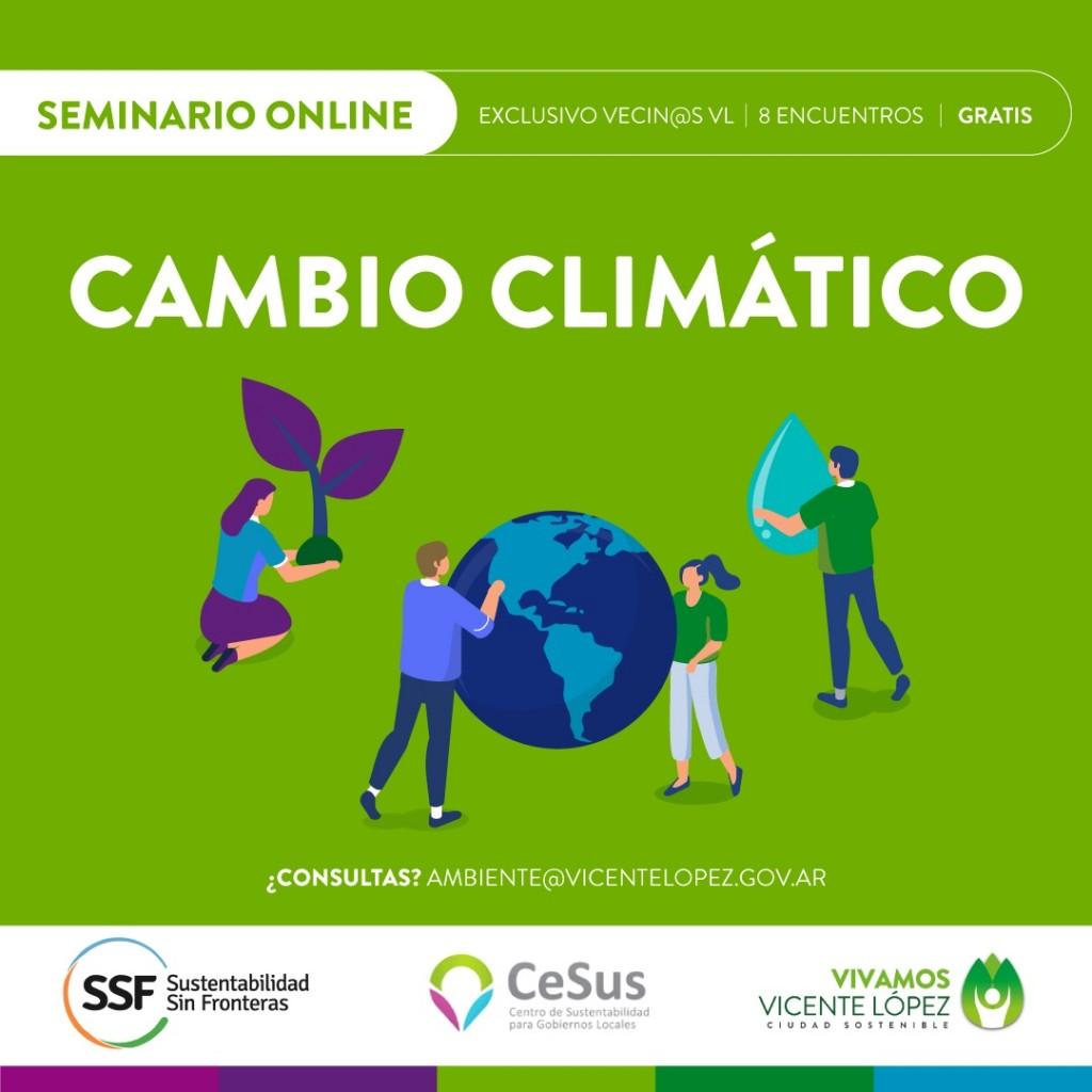 Vicente López: Últimos días para anotarse a la charla informativa del seminario sobre Cambio Climático