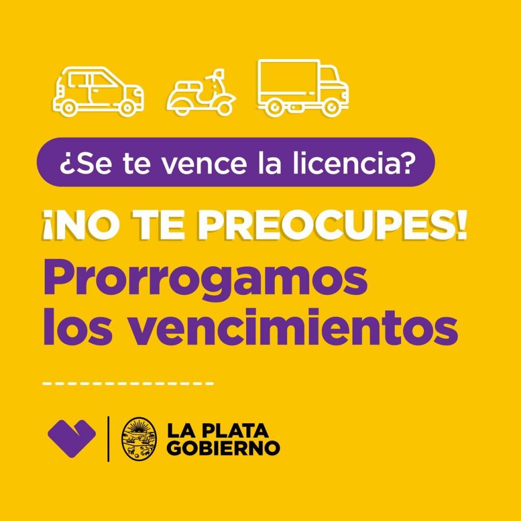 La Plata: Vuelven a prorrogar los vencimientos de las licencias de conducir