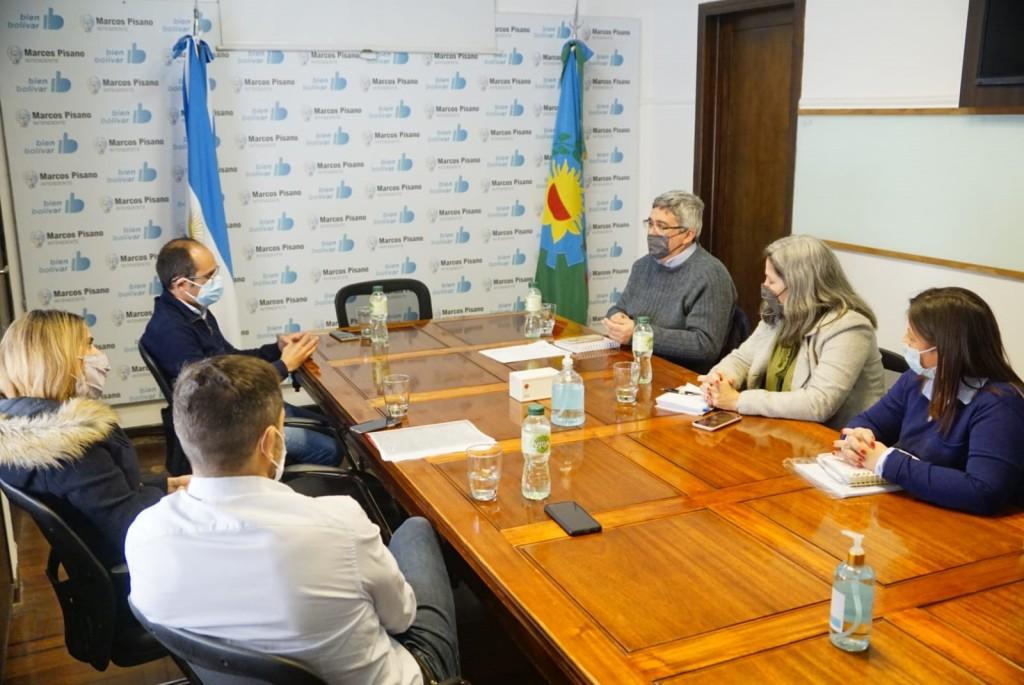 Bolívar: El Intendente Pisano recibió al Ministro de desarrollo agrario bonaerenses Javier Rodríguez