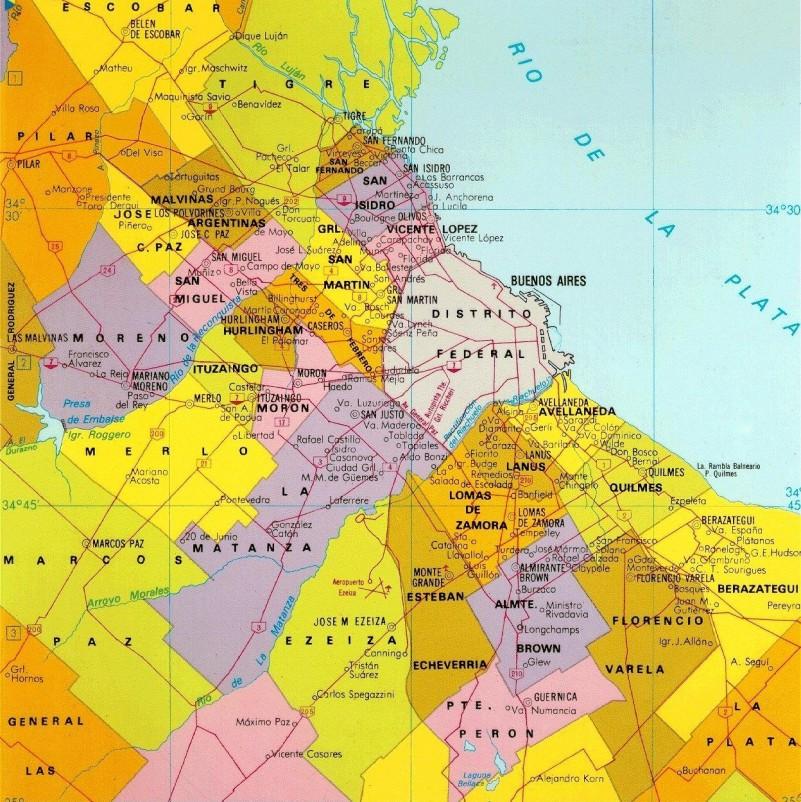 Proyectan dividir los municipios de La Matanza, Moreno, Almirante Brown y Lomas de Zamora
