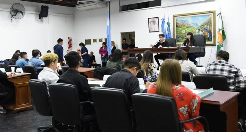 Merlo: Se desarrolló la 1ª Sesión del Parlamento Joven en el HCD