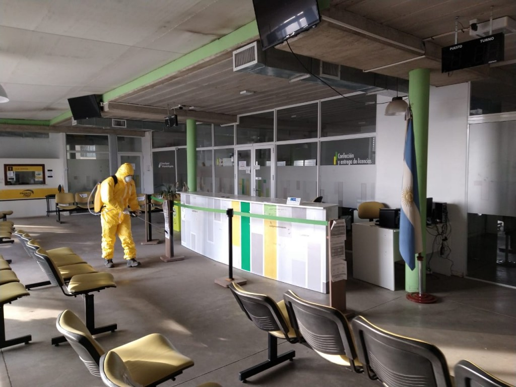 Pergamino: Continúan las tareas de desinfección