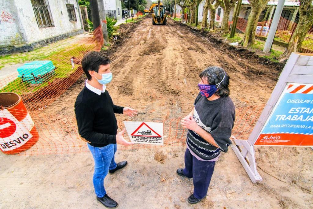 Comienzan las obras de pavimentación de San Vicente
