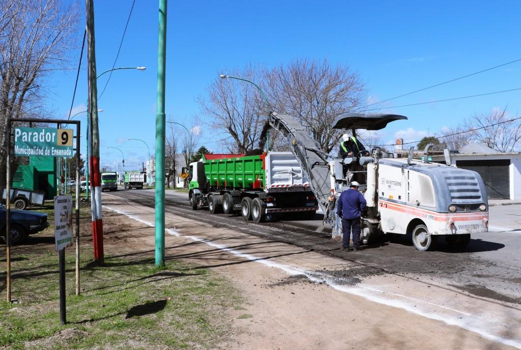 Ensenada: Obras en Camino Almirante Brown