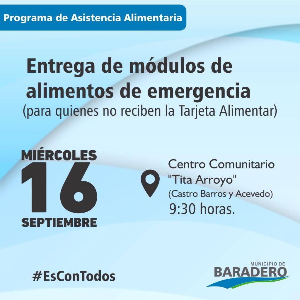 """Baradero: Entrega de módulos de alimentos en el Centro Comunitario """"Tita Arroyo"""""""