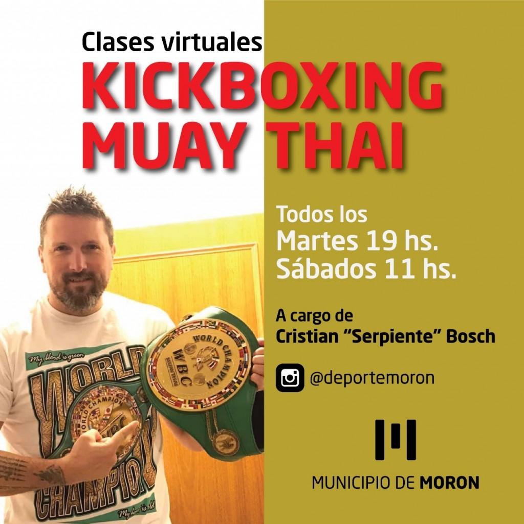El Municipio de Morón lanza un curso online de Kickboxing y Muay Thai