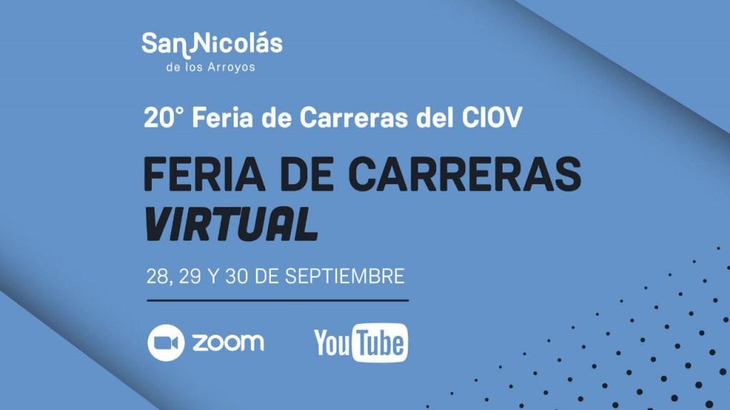 """La 20° """"Feria de Carreras"""" se realizará de manera virtual en San Nicolás"""