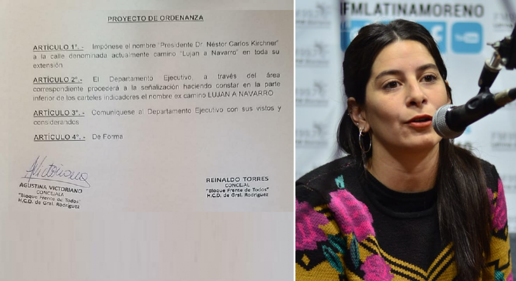 """Gral. Rodríguez: Proponen que el Camino Luján a Navarro se denomine como """"Dr. Néstor Carlos Kirchner"""""""