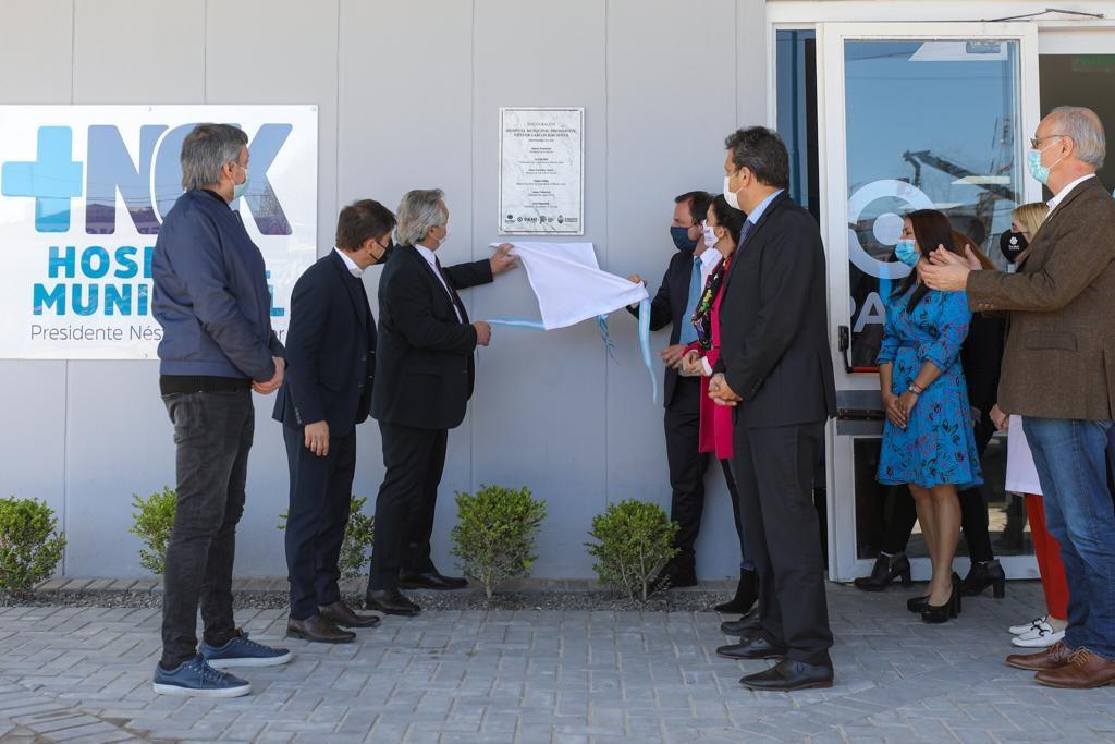 Escobar: Fernández, Kicillof y Sujarchuk inauguraron el Hospital Municipal Néstor Kirchner