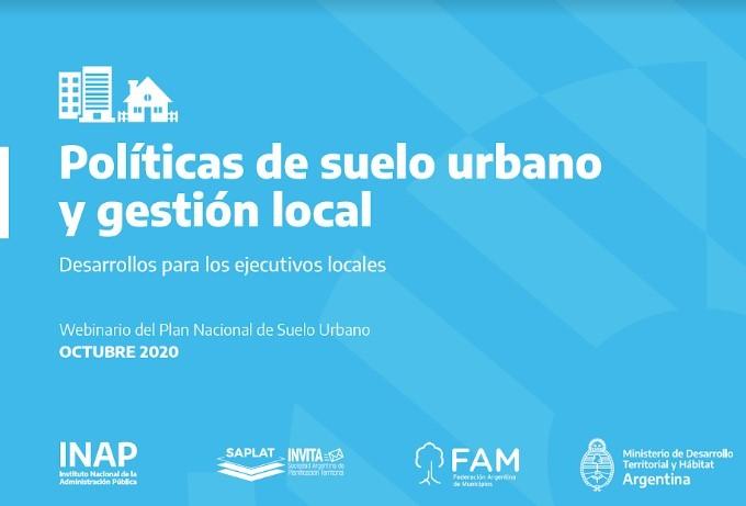 G. Villegas: Capacitación Nacional en Políticas del suelo Urbano y Gestión Local