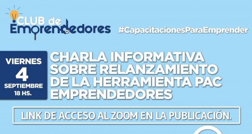 Gral. Belgrano: El viernes 4 se realiza la charla informativa sobre el Relanzamiento de los PAC Emprendedores