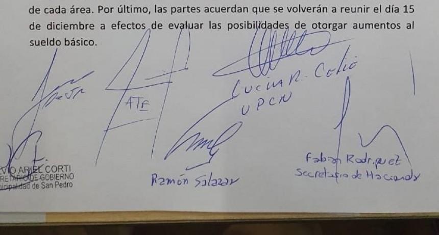 San Pedro: El intendente Salazar acordó un Bono de $ 12.000 en cuatro cuotas para los municipales