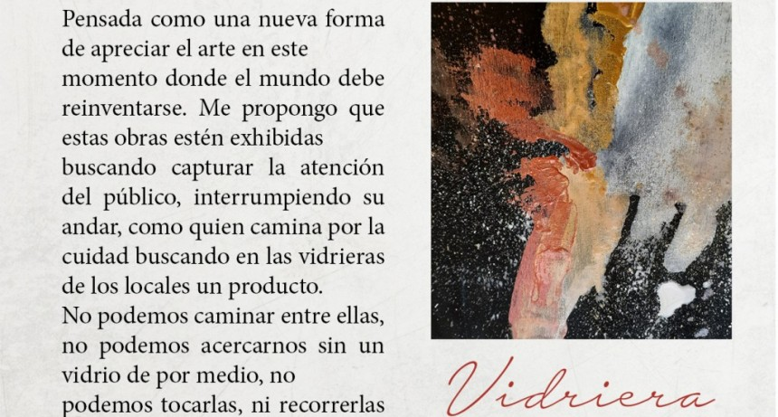 """Carlos Casares: El viernes se inaugura """"Vidriera"""", exposición de Aldana Jaime en el Espacio de Arte Municipal"""