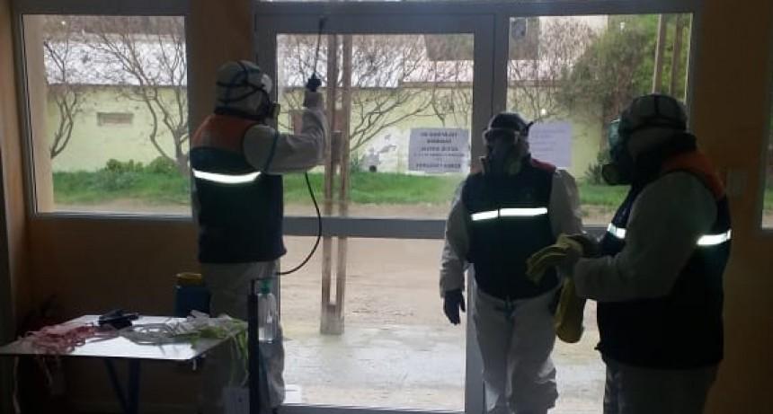 Patagones: Se efectúan tareas de desinfección en bahía San Blas