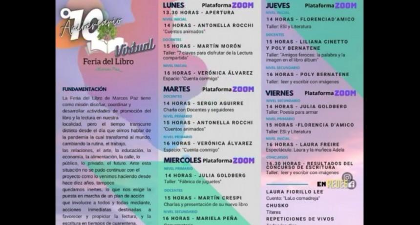 Marcos Paz: La 10° Edición de la Feria del Libro se desarrollará a través de redes sociales
