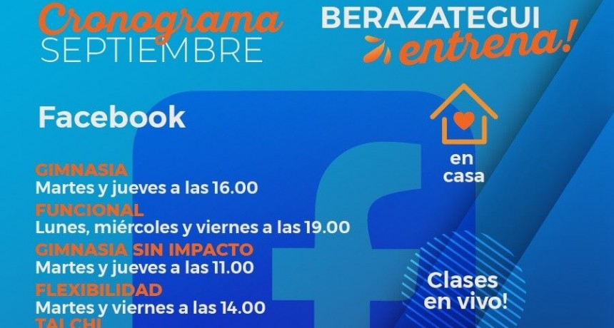 Berazategui: Siguen las clases de Gimnasia, Zumba y Tai Chi Online