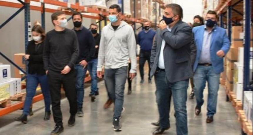 Gral. Rodríguez: Mauro García y el ministro Augusto Costa recorrieron empresas del distrito