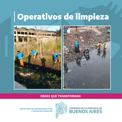 La Provincia realizó operativos de limpieza en 8.550 metros de arroyos y canales