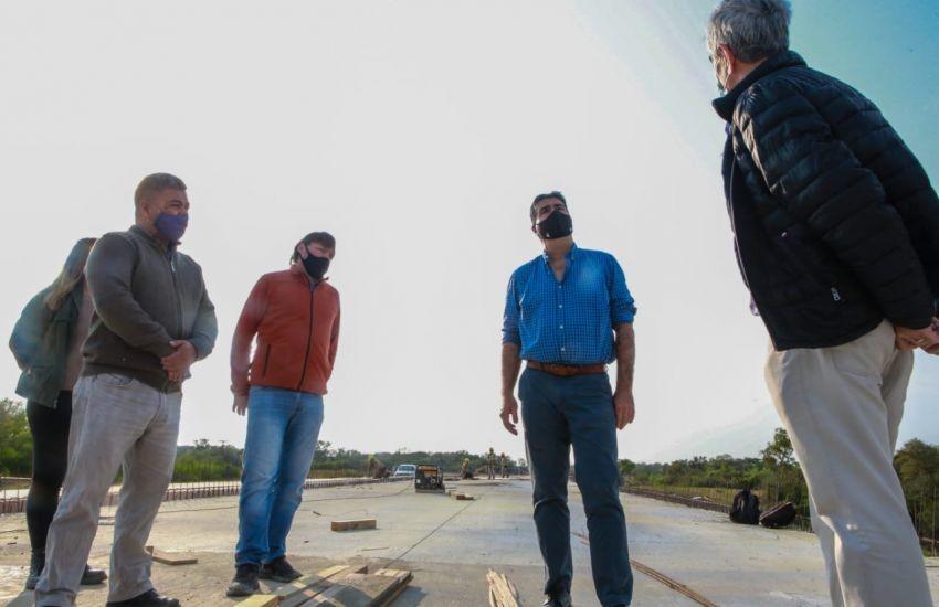 Chaco: Capitanich supervisó la pavimentación de la Ruta 13