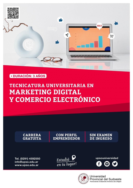 Monte Hermoso: Inscripciones abiertas para la Tecnicatura en Marketing digital y Comercio electrónico