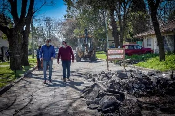 Mar del Plata: El Municipio realiza bacheo de hormigón en Parque Luro