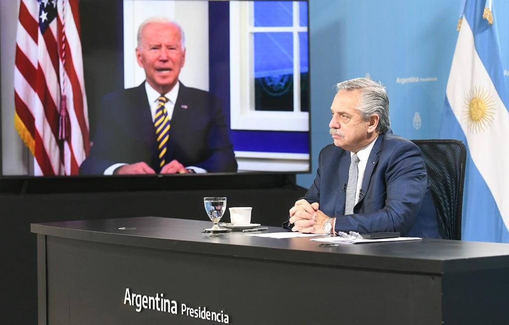 El Presidente Fernández planteó ante Biden mejores condiciones de financiamiento para enfrentar la crisis climática