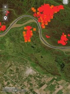Baradero: El municipio realiza monitoreos de los focos de incendios de Islas