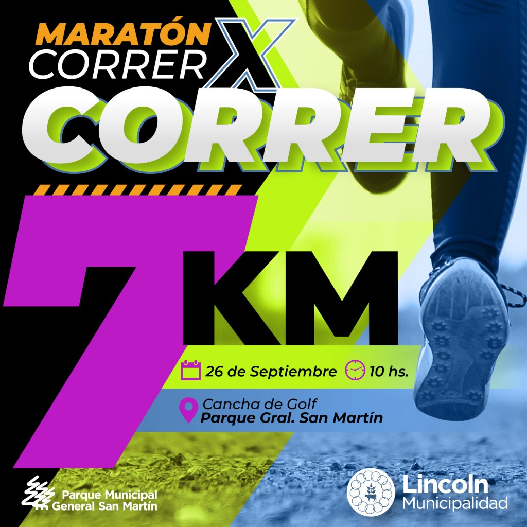 "Lincoln: Se acerca la maratón recreativa ""correr por correr"""