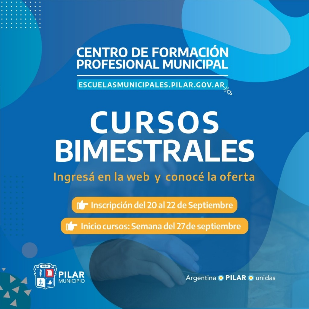 Pilar: Ya está abierta la inscripción a los cursos bimestrales de Escuelas Municipales