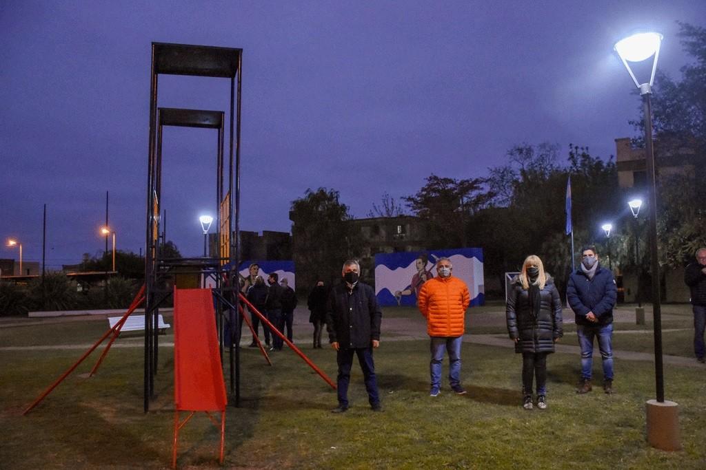 Chivilcoy: El Intendente Britos presentó la puesta en valor de la Plaza de los Trabajadores