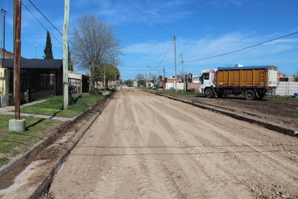 Lobería: Se efectuó la obra de pavimentación en la calle Piñero
