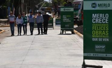 Merlo: Quedó inaugurado el asfalto de la calle Colombia