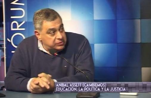 """Aníbal Asseff afirmó que """"docentes y auxiliares rompen los colegios para no dar clases"""""""