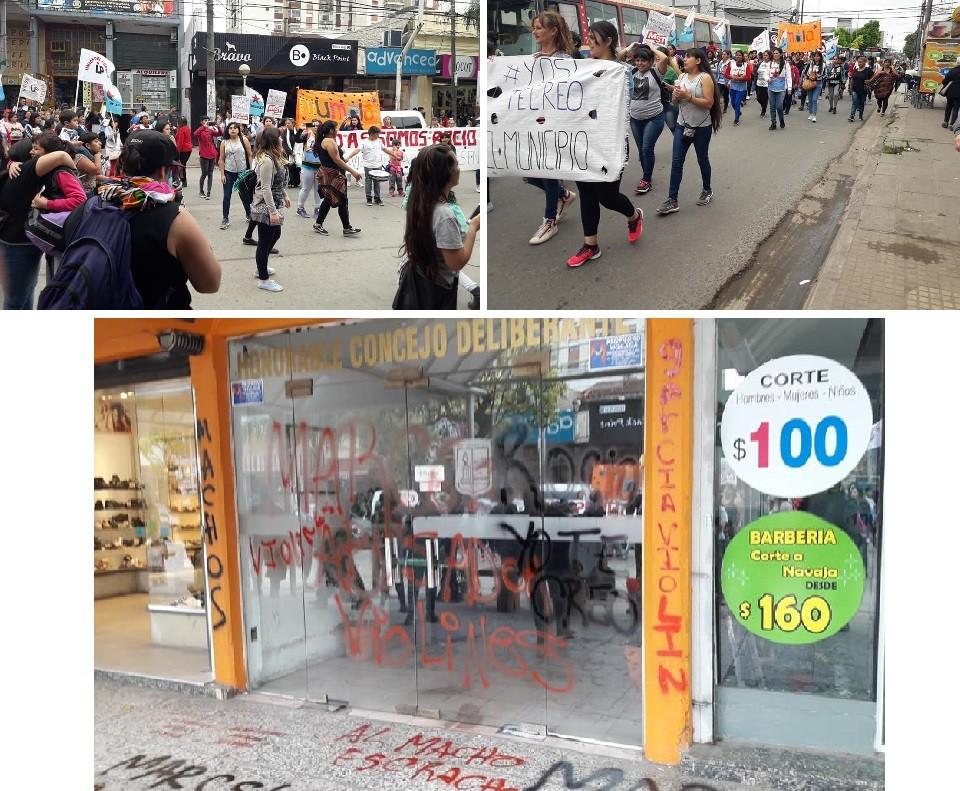 """Colectivo feminista marchó por las calles de Moreno con la consigna """"Le creemos a Rocío"""""""