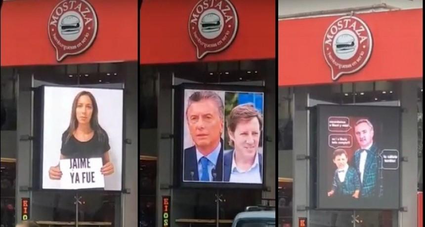 San Miguel: Los vecinos se sorprendieron con una publicidad contra Vidal y Jaime Méndez